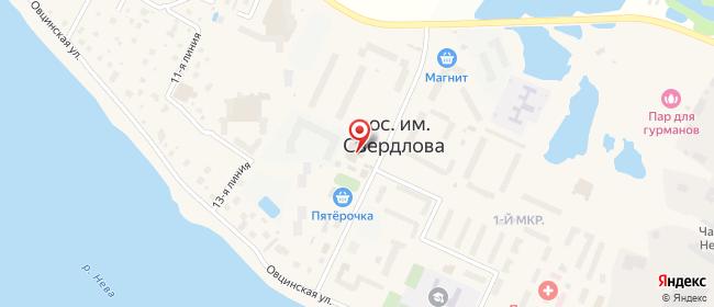 Карта расположения пункта доставки Свердлова Западный в городе Им Свердлова