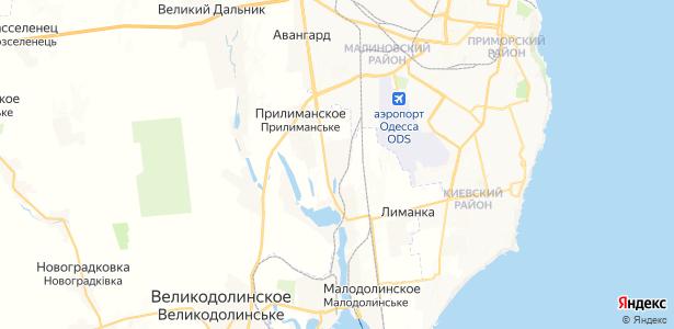 Прилиманское на карте