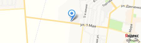 АЗС Mustang на карте Ильичёвска
