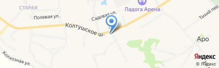 Шиномонтажная мастерская на Колтушском шоссе на карте Старой