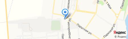 Бычок на карте Ильичёвска