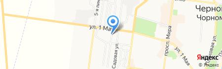 Чкаловские курсы на карте Ильичёвска