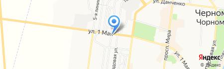 Милена на карте Ильичёвска