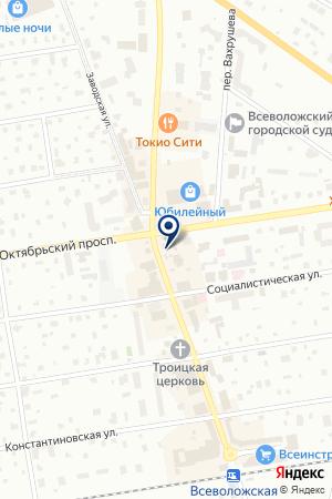 АКБ РУСКОБАНК на карте Всеволожска