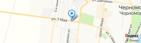 Кристалия на карте Ильичёвска