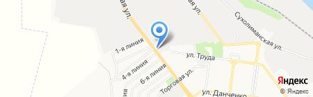 Корсар на карте Ильичёвска