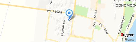 Барін на карте Ильичёвска