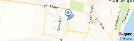 Вечерний на карте Ильичёвска