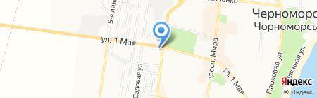 Банкомат Райффайзен Банк-Аваль на карте Ильичёвска