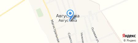 Почтовое отделение связи на карте Августовки