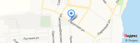 Лада на карте Ильичёвска