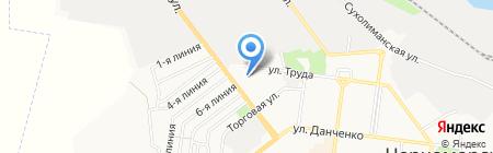 Антей на карте Ильичёвска