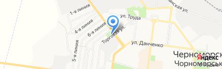 Айсберг на карте Ильичёвска