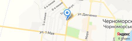 Нотариус Шевченко В.М. на карте Ильичёвска