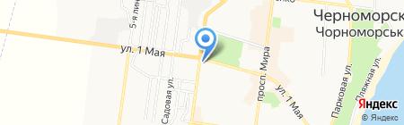 Пеликан на карте Ильичёвска