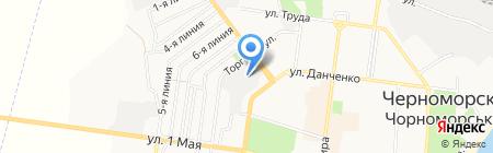 Блаз на карте Ильичёвска
