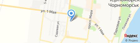 Булкин на карте Ильичёвска