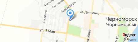 Мальва на карте Ильичёвска