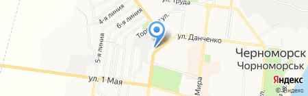 Ассоль на карте Ильичёвска