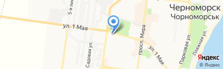 Красотка на карте Ильичёвска
