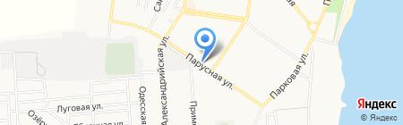Варяк на карте Ильичёвска
