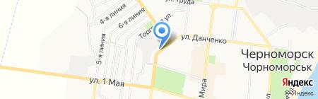 Банкомат КБ ПриватБанк на карте Ильичёвска