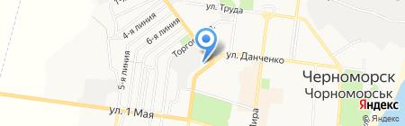Ильичёвское городское Управление жилищно-коммунального хозяйства на карте Ильичёвска