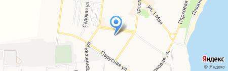 Общеобразовательная школа №6 I-III ступеней на карте Ильичёвска