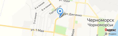 Росинка на карте Ильичёвска
