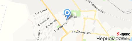 Торгово-производственная фирма на карте Ильичёвска