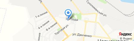 Водолей на карте Ильичёвска