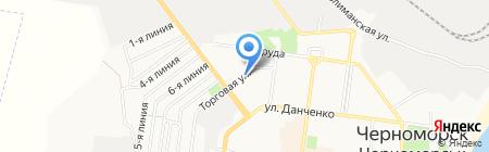 Киоск по продаже печатной продукции на карте Ильичёвска