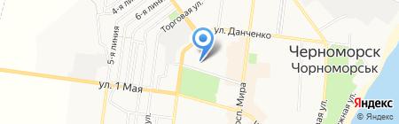 Общеобразовательная школа №1 I-III ступеней на карте Ильичёвска