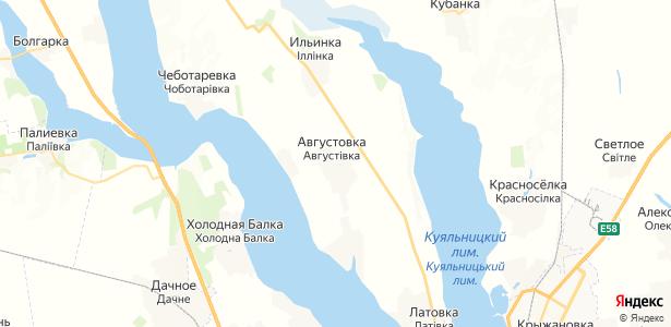 Августовка на карте