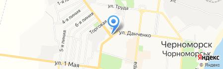 Вдягайка та взувайка на карте Ильичёвска
