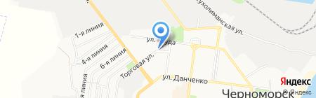 Два Дюйма на карте Ильичёвска