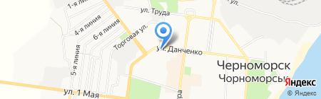 Аут на карте Ильичёвска
