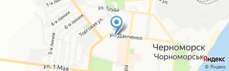Австерия на карте Ильичёвска