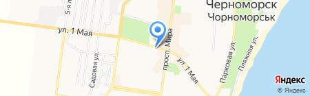 Киоск фастфудной продукции на карте Ильичёвска
