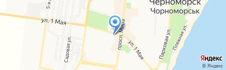 Креді Агріколь Банк на карте Ильичёвска
