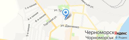 Трансплан на карте Ильичёвска