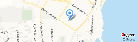 Пятерка на карте Ильичёвска