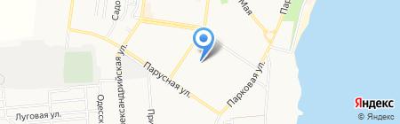 Гарван на карте Ильичёвска