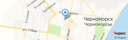 Дельфин на карте Ильичёвска