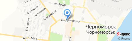 UniCredit Bank на карте Ильичёвска