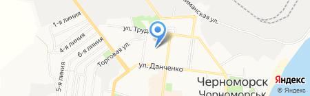 Люмьер на карте Ильичёвска
