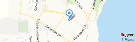 Школярик на карте Ильичёвска