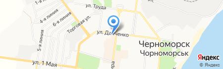 КБ Правэкс-банк на карте Ильичёвска