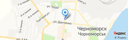 Черноморский маяк на карте Ильичёвска