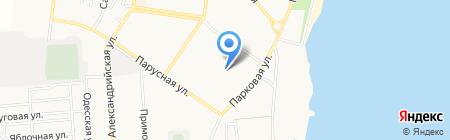 Бульвар на карте Ильичёвска